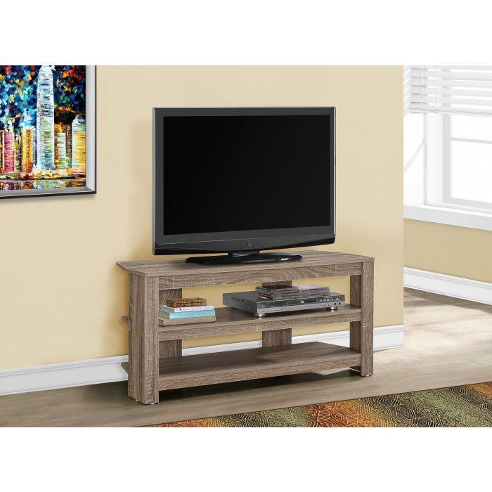 meuble tv 42 l en coin taupe fonce monarch i 2569