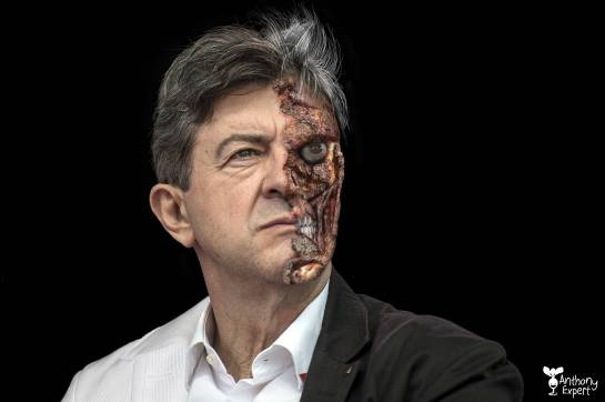 Jean-Luc Mélenchon en Double-Face © Anthony Expert