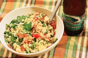 orzo salad dinner