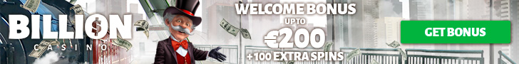 Get a €/$200 Welcome Bonus + 100 Extra Spins at Billion Casino