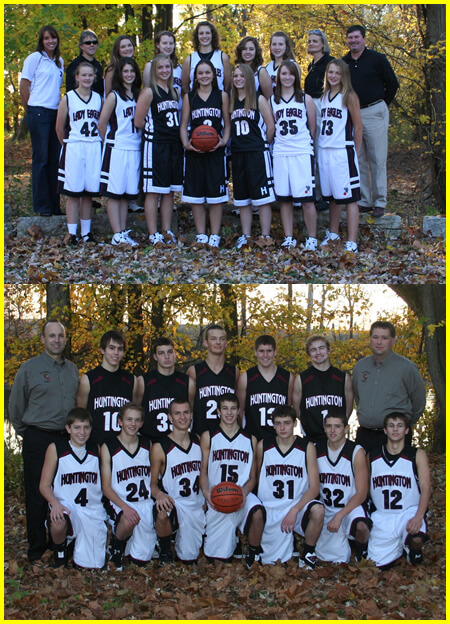 Huntington High School basketball brand40 uniforms