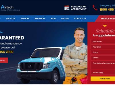 Airtech - Plumber HVAC and Repair theme Home 1