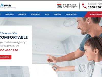 Airtech - Plumber HVAC and Repair theme Home 2