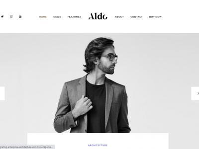 Aldo - Black and White Gutenberg Blog WordPress Theme Home 4