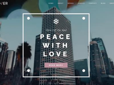 Andier - Responsive One & Multi Page Portfolio Theme Home 4