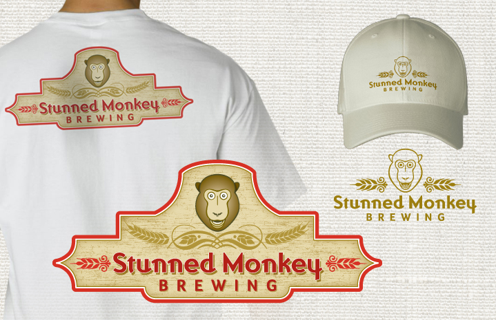Stunned Monkey Brewing T-Shirt+Hat Graphics