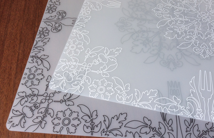 Damask Placemats for Modern-Twist