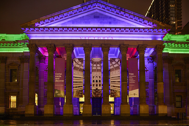 """State Library of Victoria """"Under the Dome"""" night"""