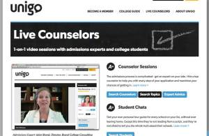 Jolyn's video responses to college questions is featured on website