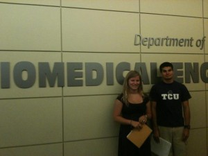 Student clients at UH Biomedical Engineering meeting