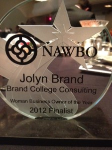WBOY Finalist award