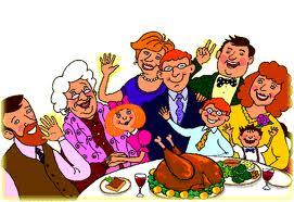family around dinner