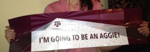 Student with Texas A&M acceptance
