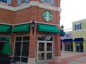 Starbucks Entrance with Logo