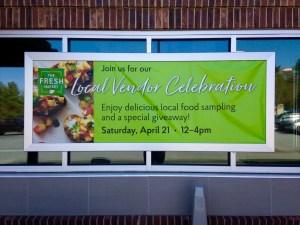 Banner promoting Local Vendor Celebration