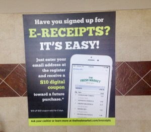 E-Receipts Promotional Poster to Build a Brand