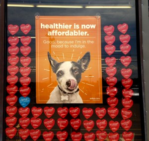 Poster promoting a brand with health and affordability for pets