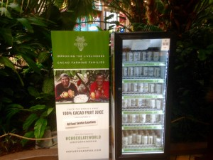 New brand: Cocoa Water product display and promotion