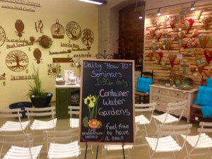 Blackboard promoting How to Garden Seminars to grow the Biltmore Brand