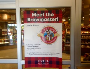 Poster promoting an beer and food tasting event to grow brand
