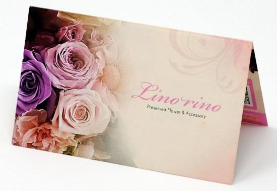 プリザーブドフラワー & アクセサリー リノリノ ブランド 二つ折り カード