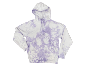 Violet Tie-Dye Hooded Sweatshirt