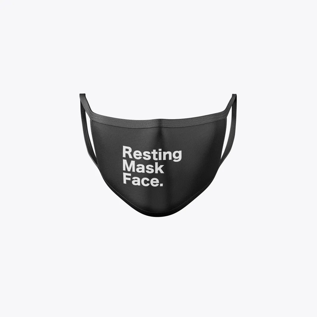 resting mask face front