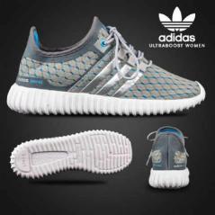 BA0111 Gray Blue Adidas Ultra Boost Women - Rp. 200000