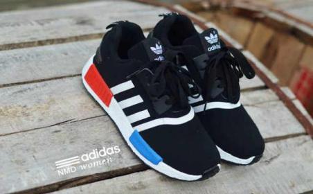 BA0120 Black White Adidas NMD Runner Women - Rp. 210000