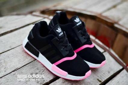 BA0123 Black List Pink Adidas NMD Runner Women - Rp. 210000