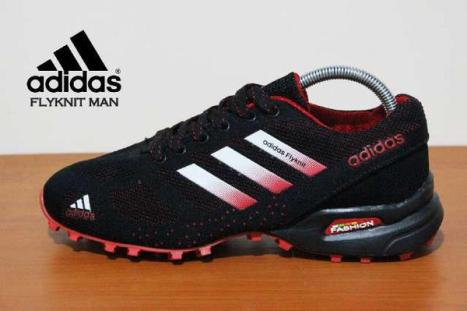 BA0152 Black Red Adidas Flyknit Men - Rp. 260000