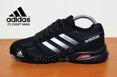 BA0153 Black White Adidas Flyknit Men - Rp. 260000
