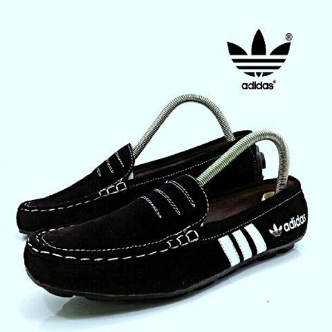 BA0427 Black Adidas Slip On PB - Rp. 160000