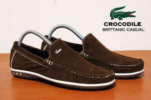 BC0068 Brown Crocodile Brittanic Suede - Rp. 190000