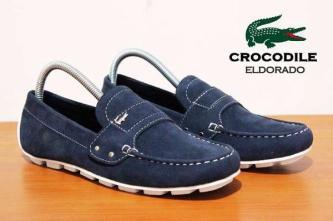 BC0075 Navy Crocodile Eldorado Suede Casual Rp. 170000