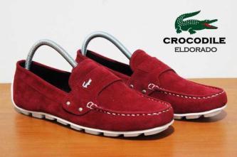 BC0077 Maroon Crocodile Eldorado Suede Casual Rp. 170000