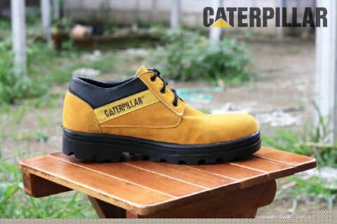 BC0324 Tan Caterpillar Low #Steel - Rp. 130000