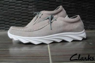 BC0399 Gray Clarks Dustin Suede Mercy - Rp. 240000