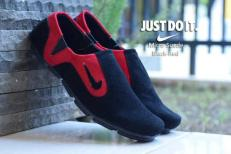 BN0290 Black Red Nike Micro Suede - Rp. 180000