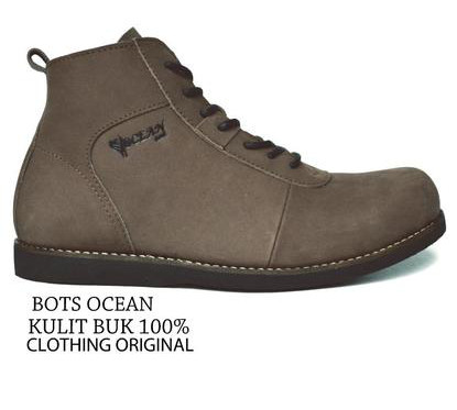 BO0352 Brown Ocean Casual Boots Authentic - Rp. 250000