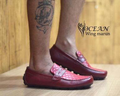 BO0360 Maroon Ocean Slip On Wing Authentic - Rp. 190000