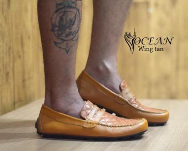 BO0361 Tan Ocean Slip On Wing Authentic - Rp. 190000