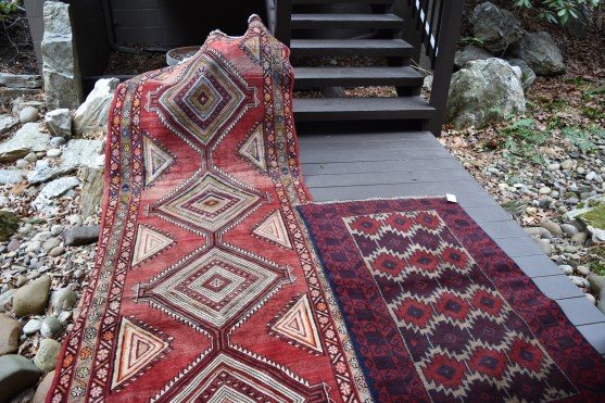 Two rugs, one is a large runner