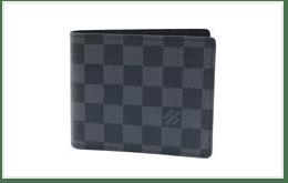 二手 DAMIER GRAPHITE 黑棋盤二折皮夾 收購實績