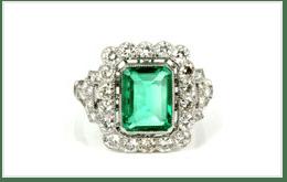 祖母綠戒指 5CT