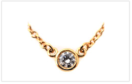 TIFFANY 蒂芬妮 DIAMONDS BY THE YARD 項鍊 K18黃金