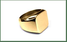 K18金印章戒指
