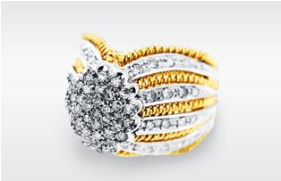 設計款碎鑽戒指