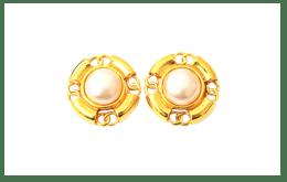 二手CHANEL 香奈兒 金色珍珠耳環 收購實績