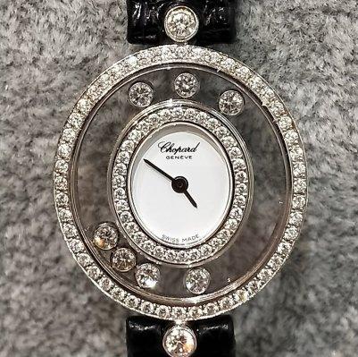 蕭邦chopard20/4292happydiamond快樂鑽錶7鑽